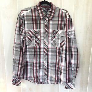 Affliction long sleeve button up shirt